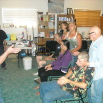 Reiki Students learning energy healing