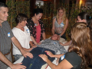 An energy Healing class in Panama