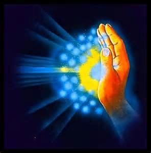 Reiki energy hands send out Life Force Energy to help others